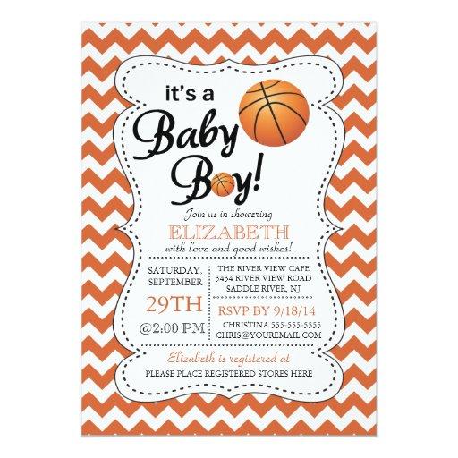 it 39 s a baby boy basketball baby shower custom invite zazzle