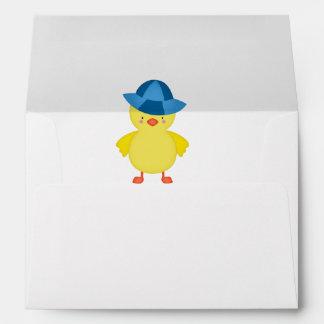 It's A Baby Boy Duckie Blue Hat Envelope