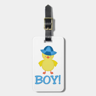 It's A Baby Boy Duckie Blue Hat Tags For Luggage