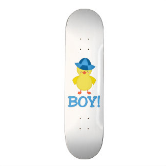 It's A Baby Boy Duckie Blue Hat Skateboard