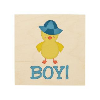 It's A Baby Boy Duckie Blue Hat Wood Wall Art