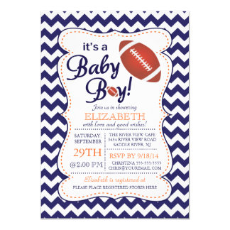 It's a Baby Boy Football Baby Shower Card