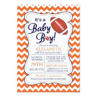 It's a Baby Boy Football Baby Shower Invitatation Card