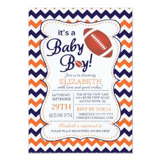 It's a Baby Boy Football Baby Shower Invitatation 5x7 Paper Invitation Card