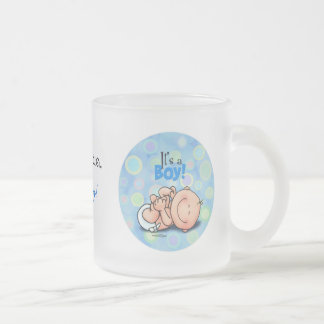 It's a Baby Boy! Frosted Glass Coffee Mug