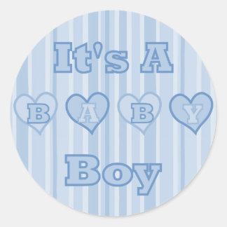 Its A Baby Boy Sticker Round Sticker