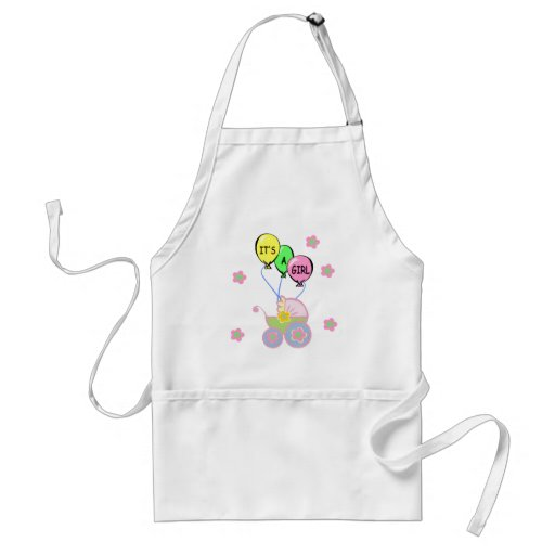 Its A Baby Girl Adult Apron