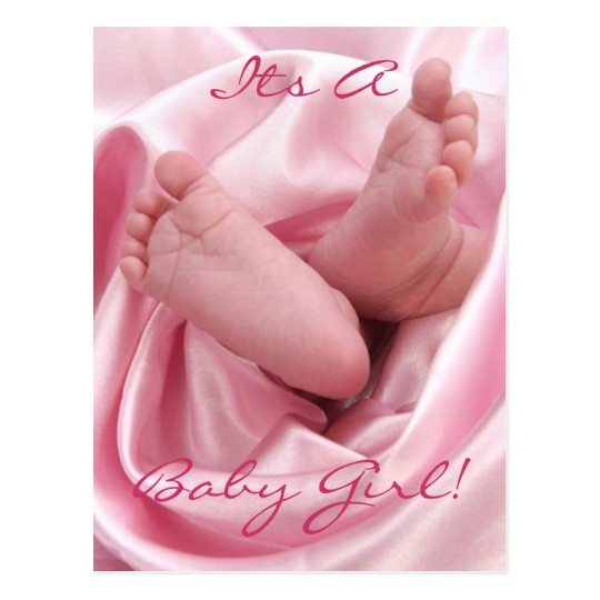 Its A Baby Girl Announcement Postcard