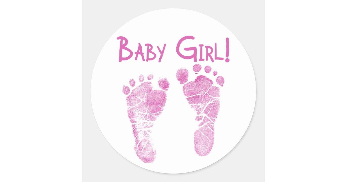 It S A Baby Girl Classic Round Sticker Zazzle