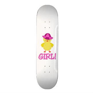 It's A Baby Girl Duckie Pink Hat Skate Board