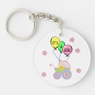 Its A Baby Girl Keychain