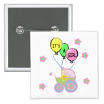 Its A Baby Girl Pinback Button