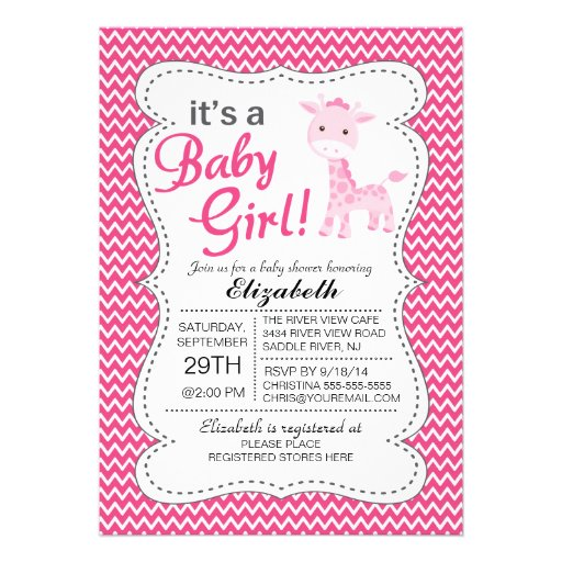 Elephant Baby Shower Invite with awesome invitation design