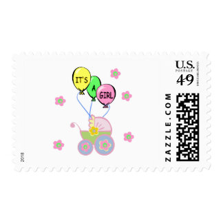Its A Baby Girl Postage Stamp