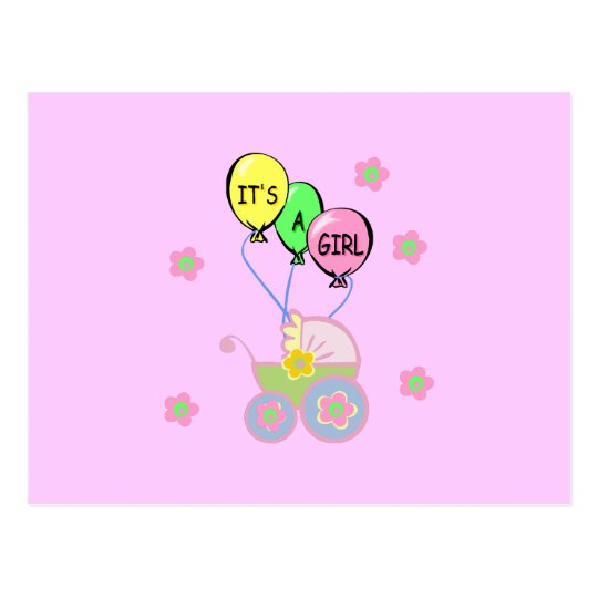 Its A Baby Girl Postcard