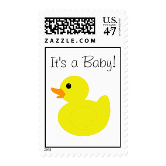 """""""It's a Baby!"""" Rubber Duck Postage Stamp"""
