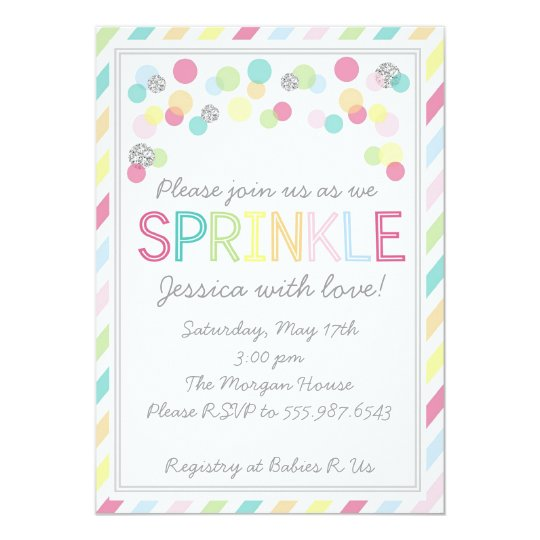 Itu0027s A Baby Sprinkle! Baby Shower Invitation