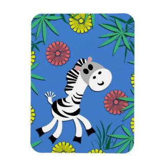 It's a Baby Zebra Jungle Party! Magnet