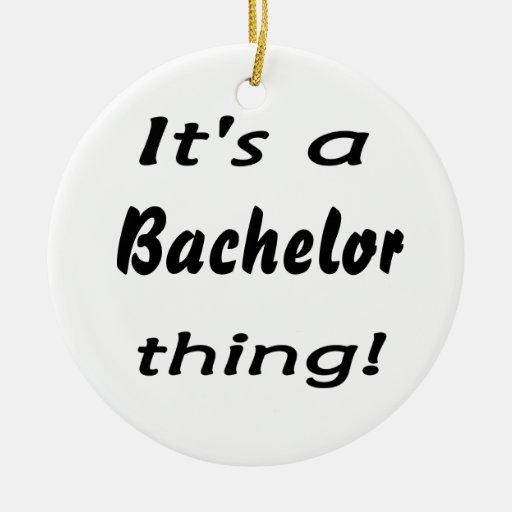 It's a bachelor thing! Double-Sided ceramic round christmas ornament