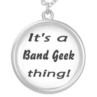 It's a band geek  thing! round pendant necklace