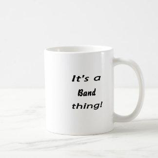 It's a band thing! classic white coffee mug