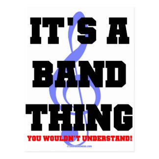 It's A Band Thing Postcard