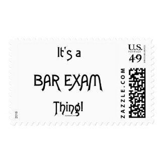 It's a Bar Exam Thing! Postage Stamp