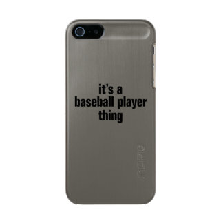 its a baseball player thing metallic phone case for iPhone SE/5/5s