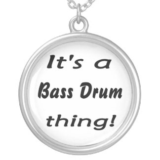 It's a bass drum thing! silver plated necklace