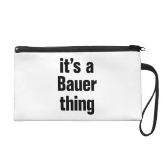 its a bauer thing wristlet purses