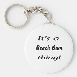 It's a beach bum thing! basic round button keychain