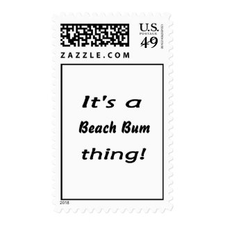 It's a beach bum thing! postage stamp