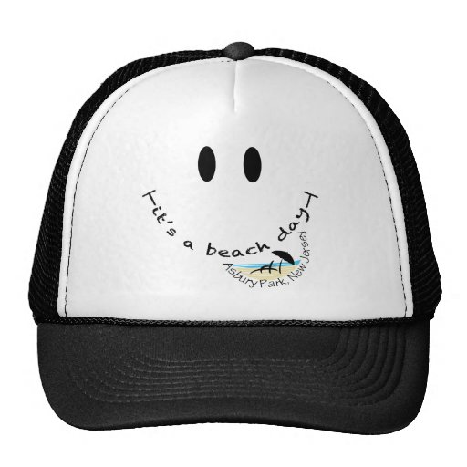 It's a Beach Day - Asbury Park, New Jersey Mesh Hat