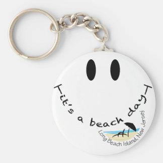 It's A Beach Day - Long Beach Island, New Jersey Basic Round Button Keychain