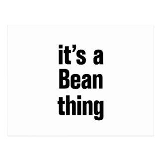 its a bean thing postcard
