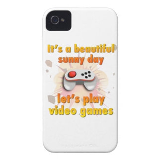 Its a beautiful day - let's play video games iPhone 4 covers