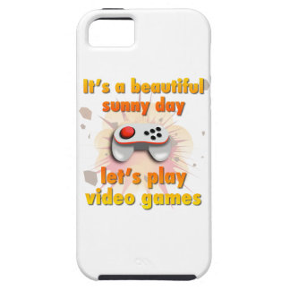 Its a beautiful day - let's play video games iPhone SE/5/5s case
