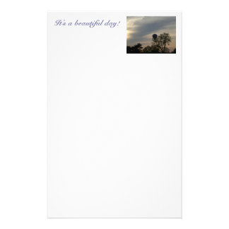 It's a beautiful day! stationery paper
