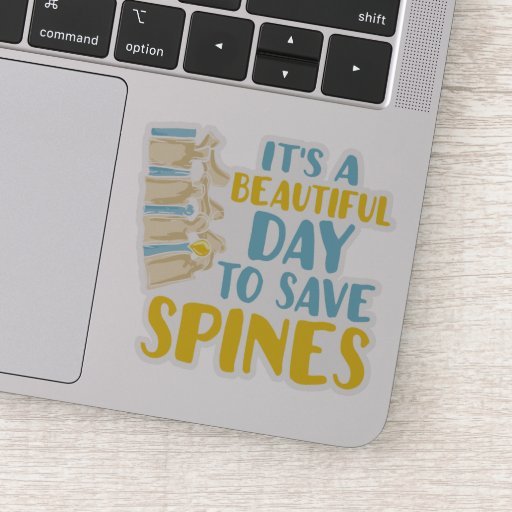 Its A Beautiful Day To Save Spines Chiropractor Sticker