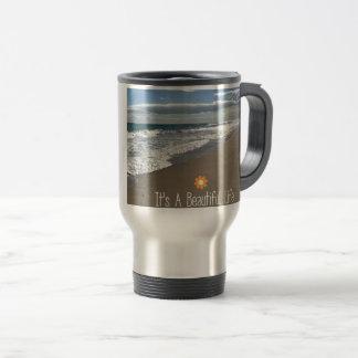 Its A Beautiful Life at the Beach Travel Mug