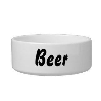 It's a beer thing! pet water bowl