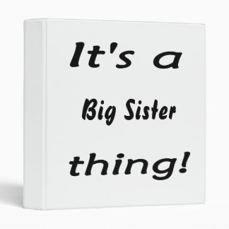 It's a big sister thing! binder