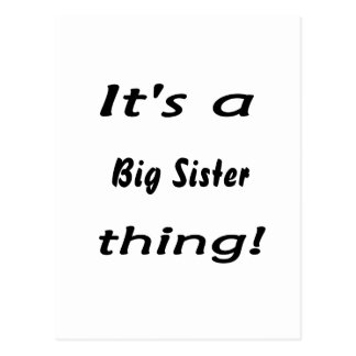 It's a big sister thing! postcard