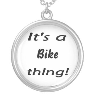 It's a bike thing! round pendant necklace