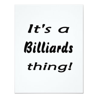 It's a billiards thing! card