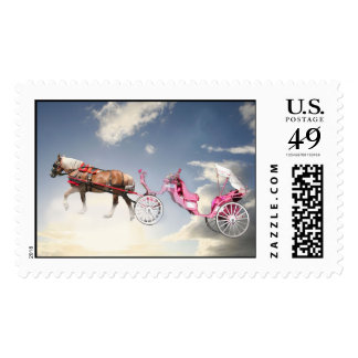 It's a bird,it's a plane...it's a flying carriage! postage