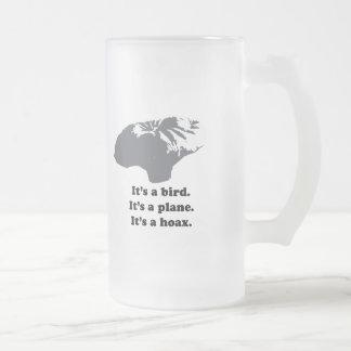 It's a bird. It's a plane. It's a Hoax 16 Oz Frosted Glass Beer Mug