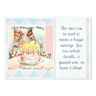 It's A Birthday Party 5x7 Paper Invitation Card