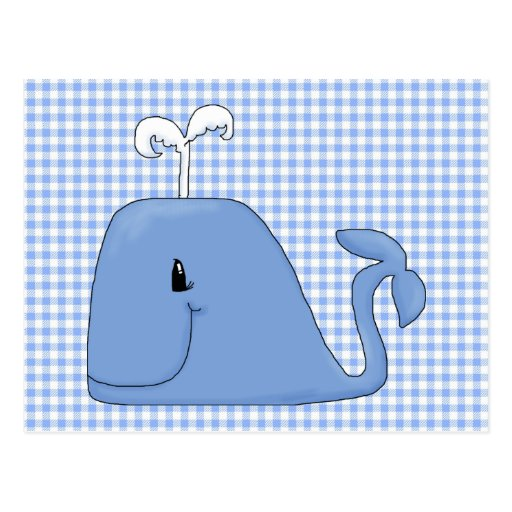 It's a Blue Whale Postcard