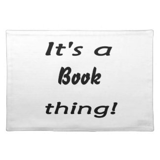 It's a book thing! placemat